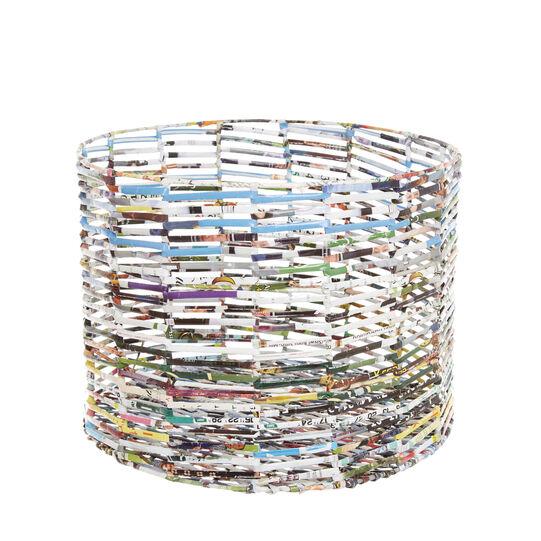 Cesto in carta riciclata intrecciata