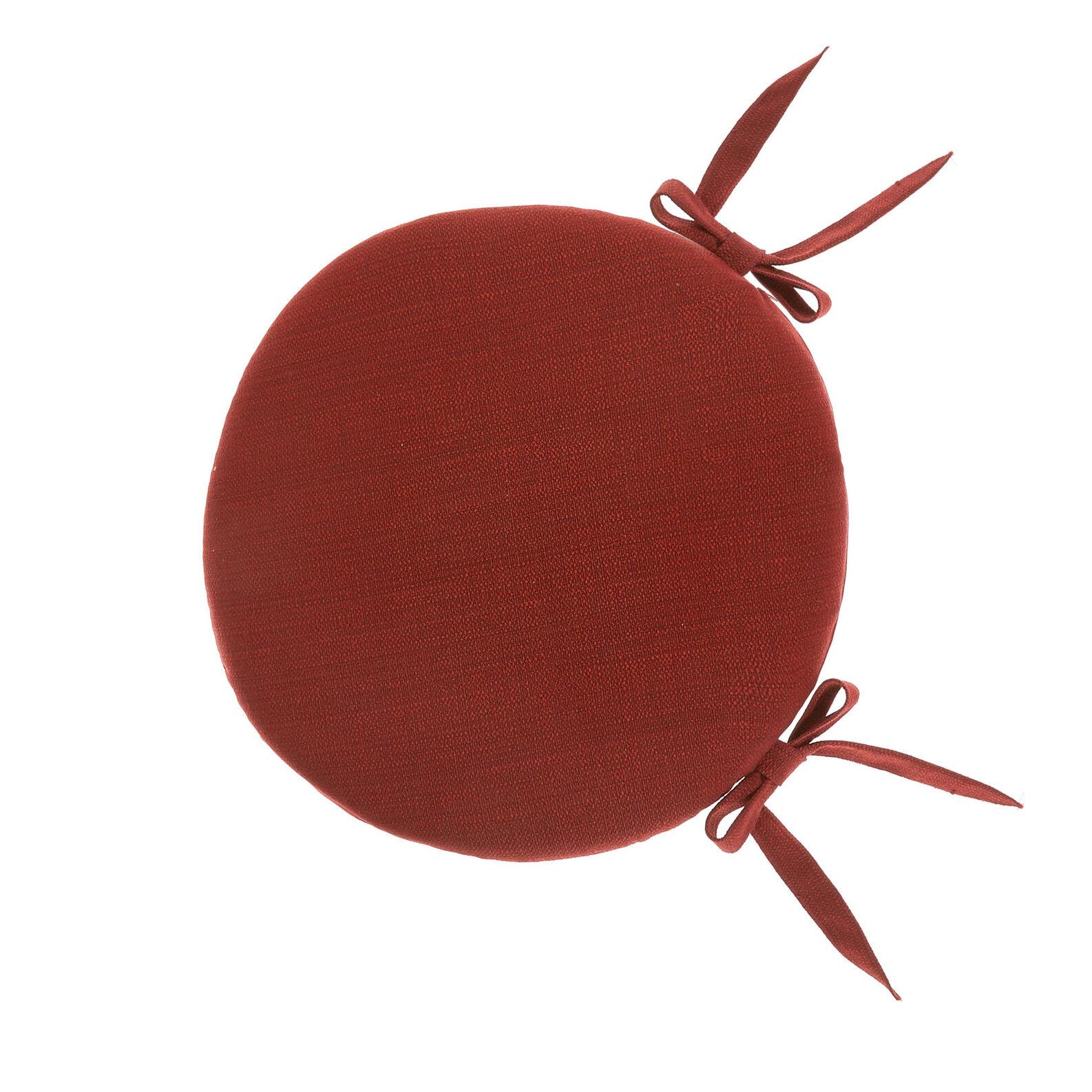 Round chair cushion solid colour