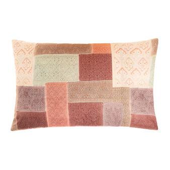 Cotton percale pillowcase with kimono pattern