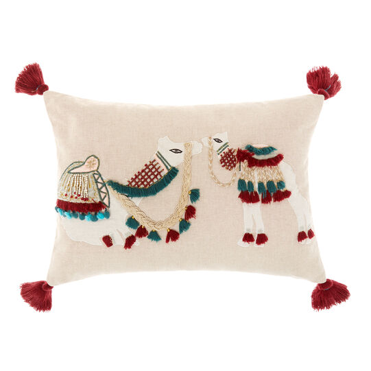Cushion with decorated camels