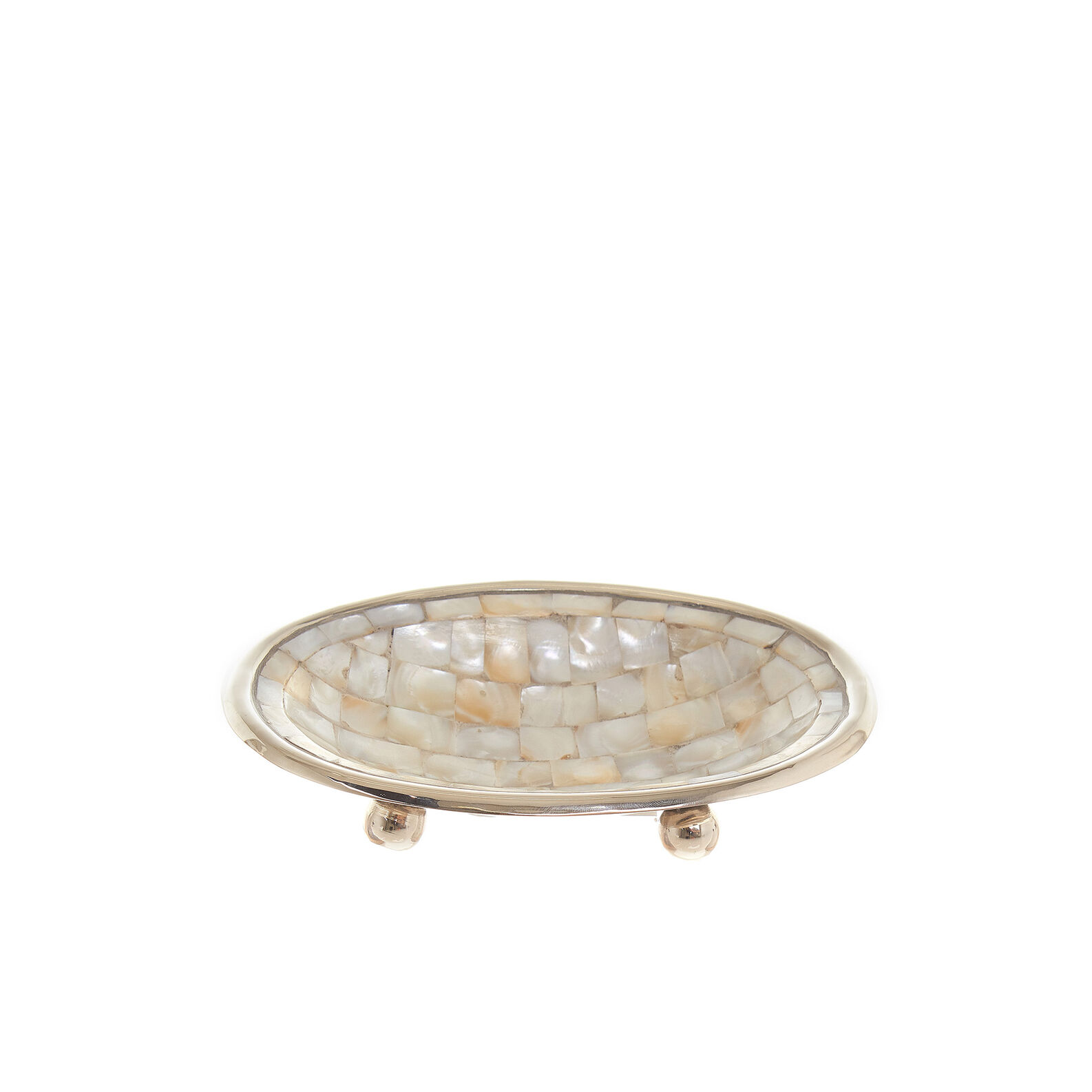 Mother-of-pearl mosaic soap dish