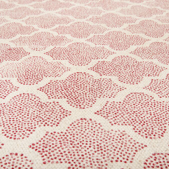 Hand-printed vintage-style cotton rug