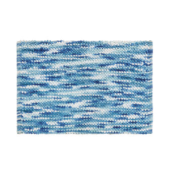 Shaggy cotton blend bath mat