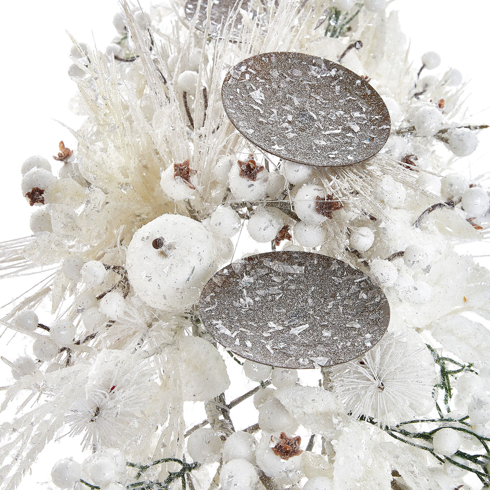Centrepiece with 3 lights and white berries