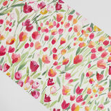 100% cotton table runner with tulip print
