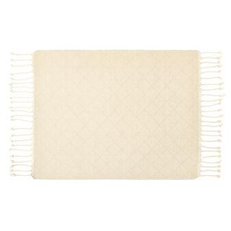 Tovaglietta puro cotone ricamo a rombi