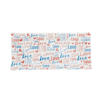 Love glass rectangular plate