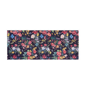 Cotton mat with floral print