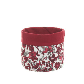 100% cotton basket with floral print