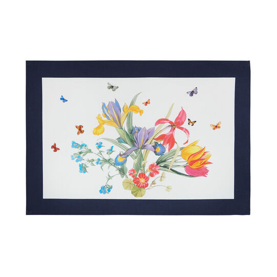 100% cotton table mat made in Europe with floral print