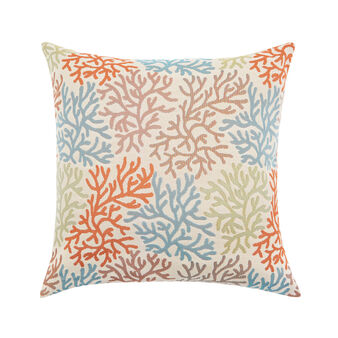 Outdoor cushion with coral print 50x50cm