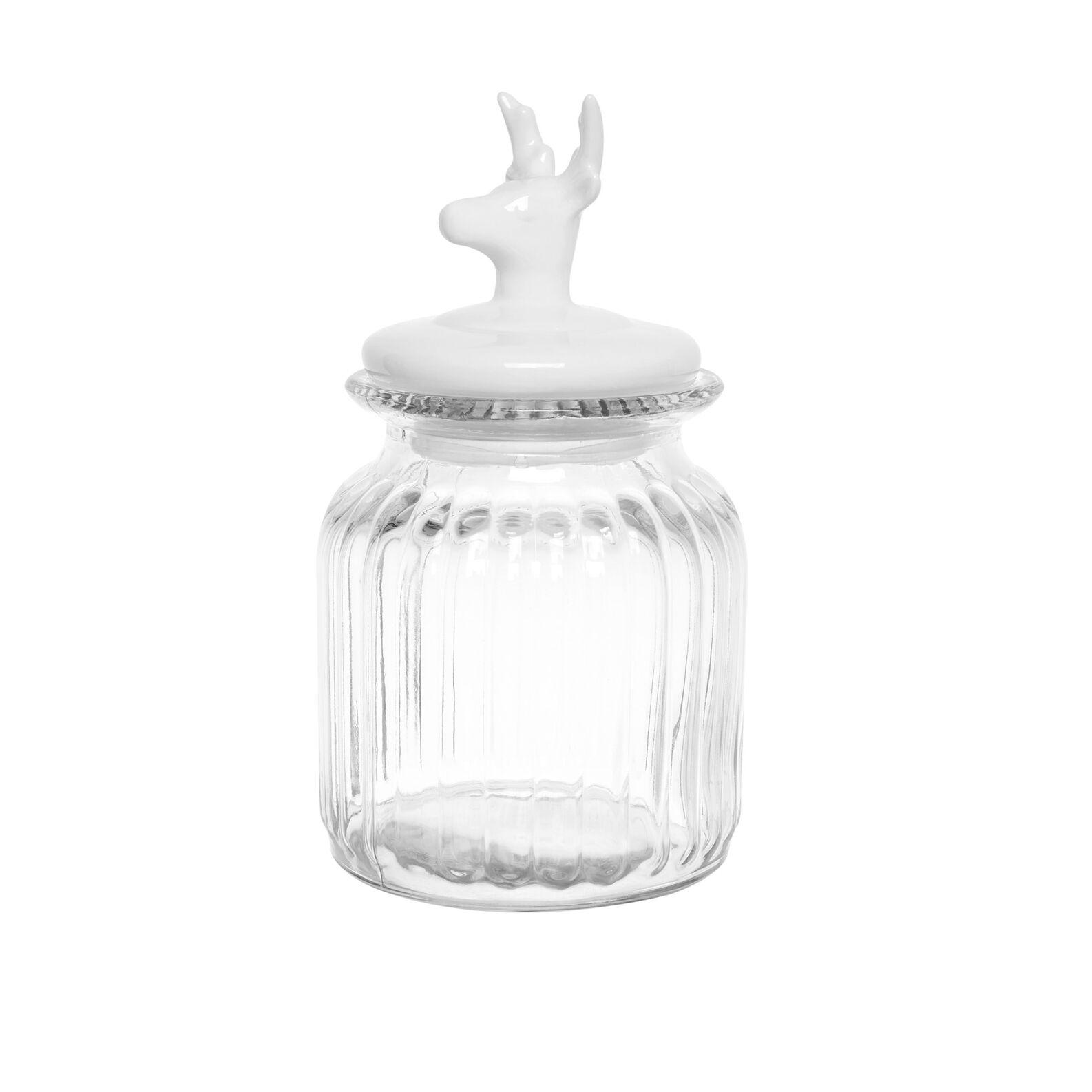 Biscottiera vetro coperchio alce