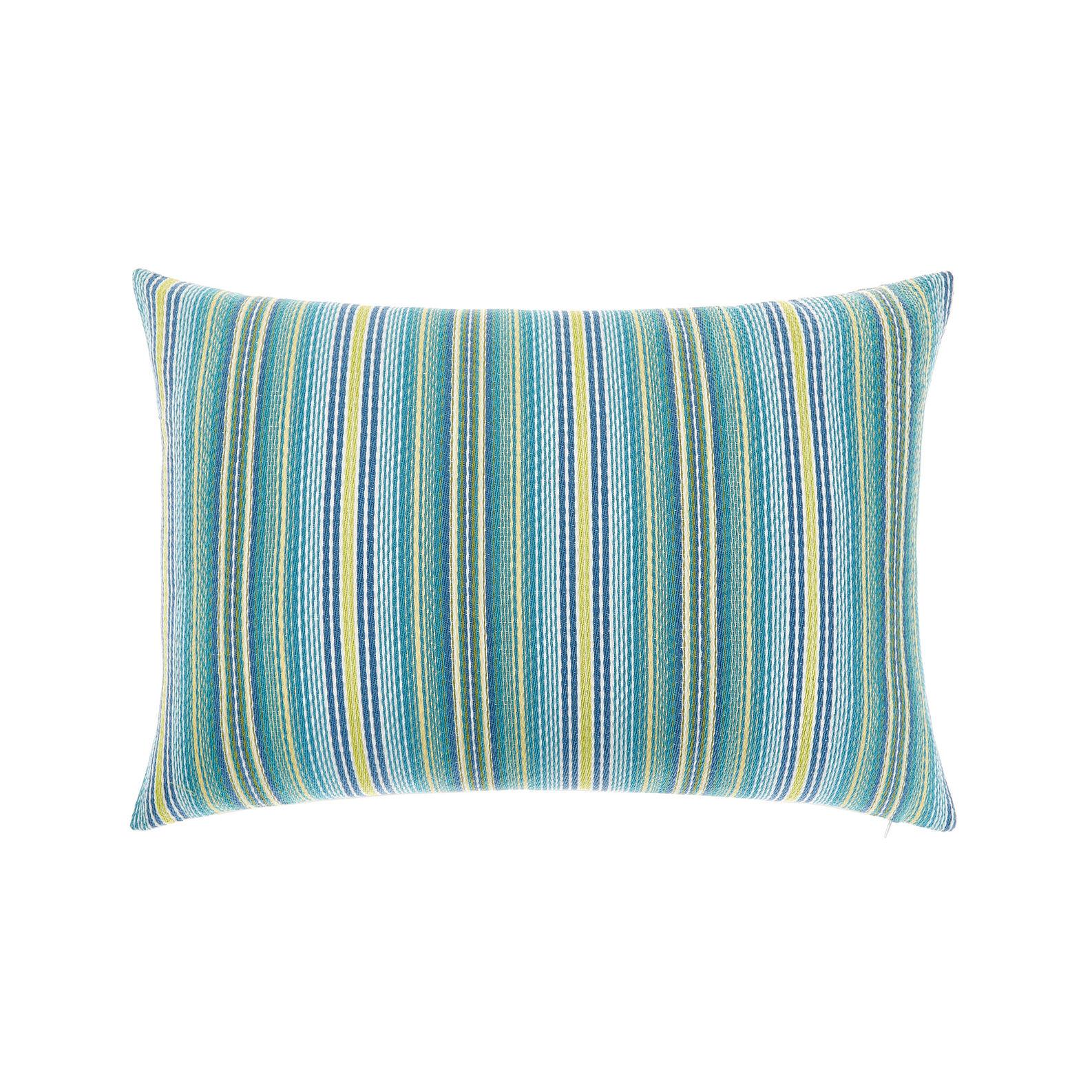 Jacquard striped cushion
