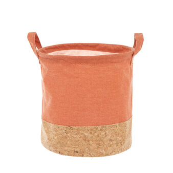 Fabric and cork basket