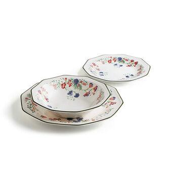 Set of 18 Emily ceramic plates