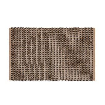 Handmade mat in woven jute