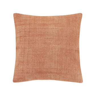 Hand-printed cushion in cotton