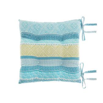 Striped pure cotton chair cushion.