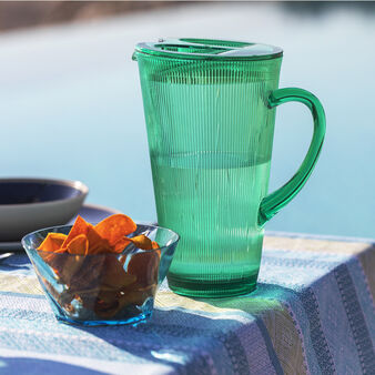 Striped platic Carafe