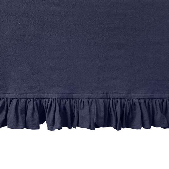 Tovaglia puro cotone garment washed bordo volant