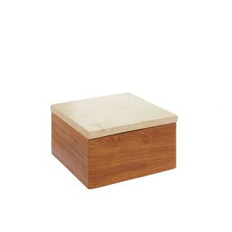 Box in marmo e legno lavorato a mano