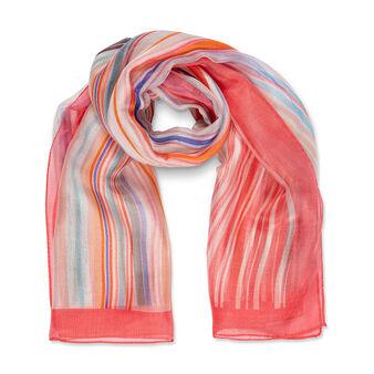 Koan stripe print silk scarf