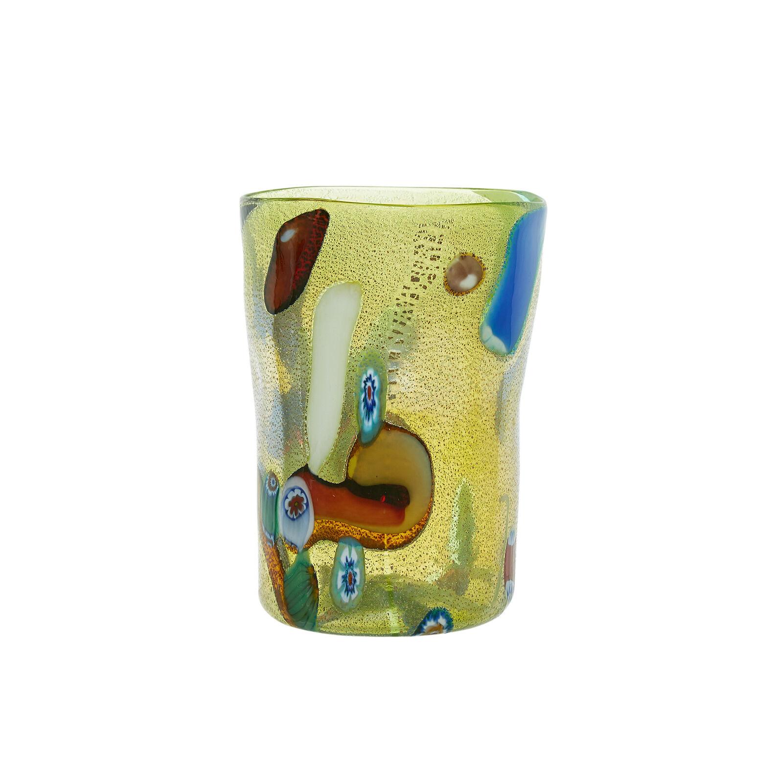 Murano Mosaic glass tumbler
