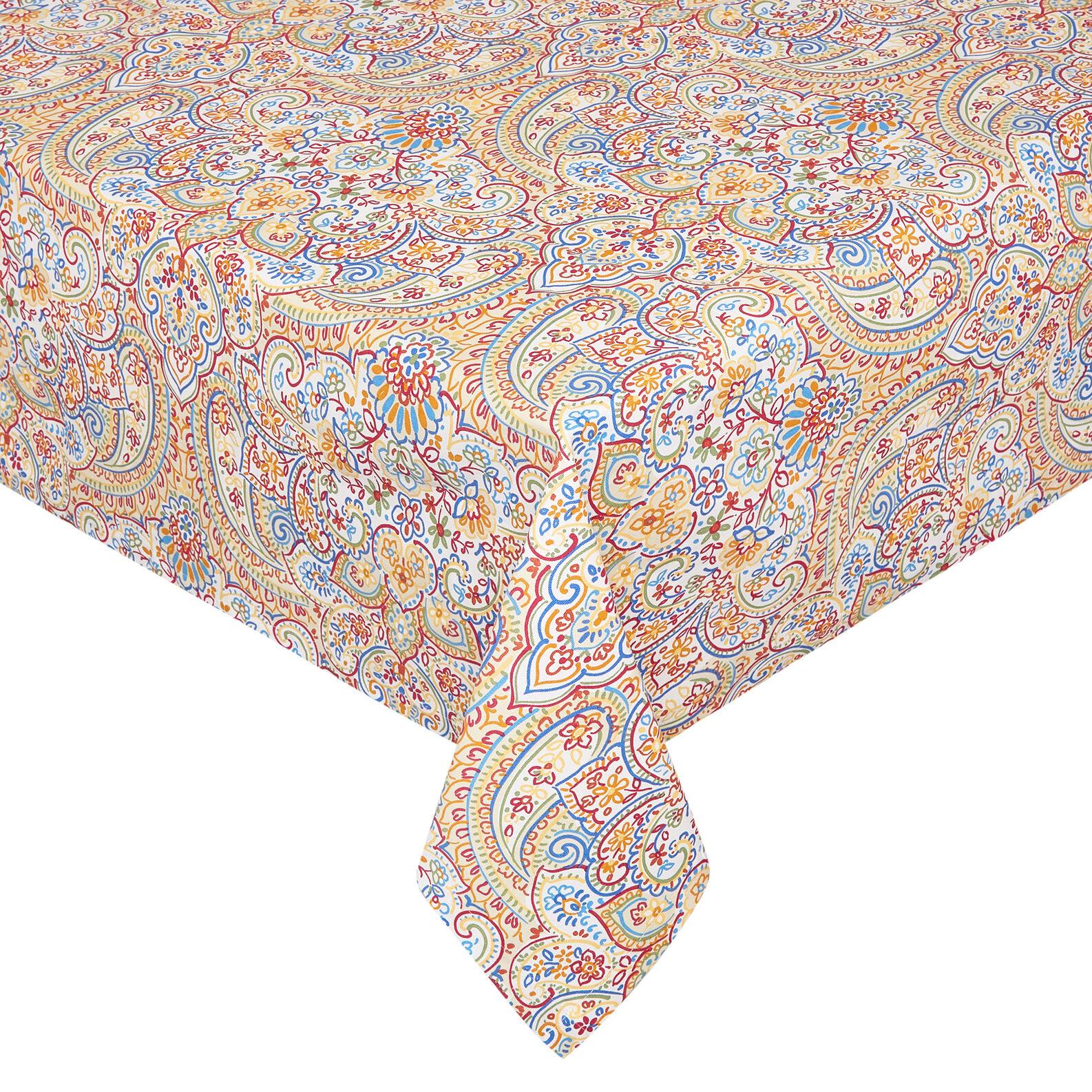 100% cotton tablecloth with mandala print