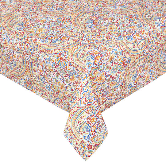 100% cotton tablecloth with mandala print