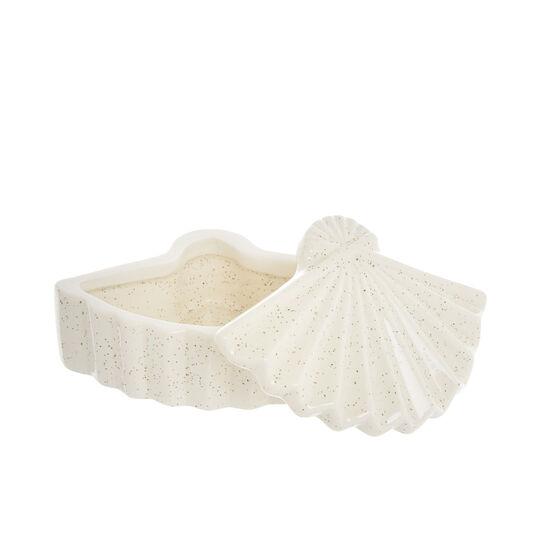 Decorative ceramic fan-shaped box