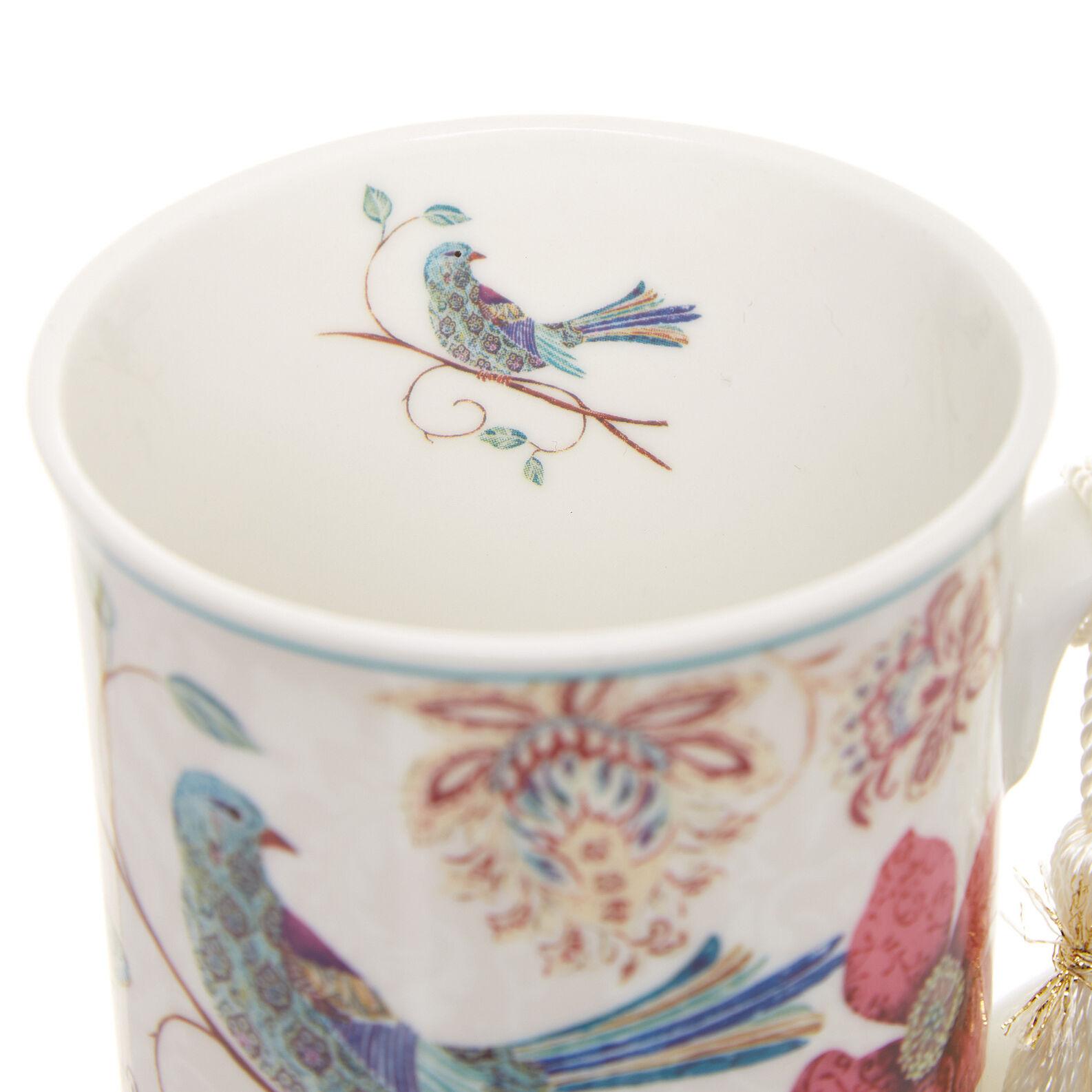 Mug new bone china decoro uccellino