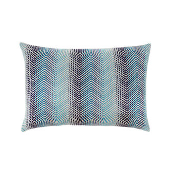 Cotton cushion with zigzag embroidery 35 x 55 cm