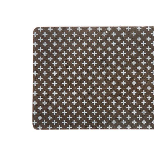 Lava stone cutting board with ornamental motif