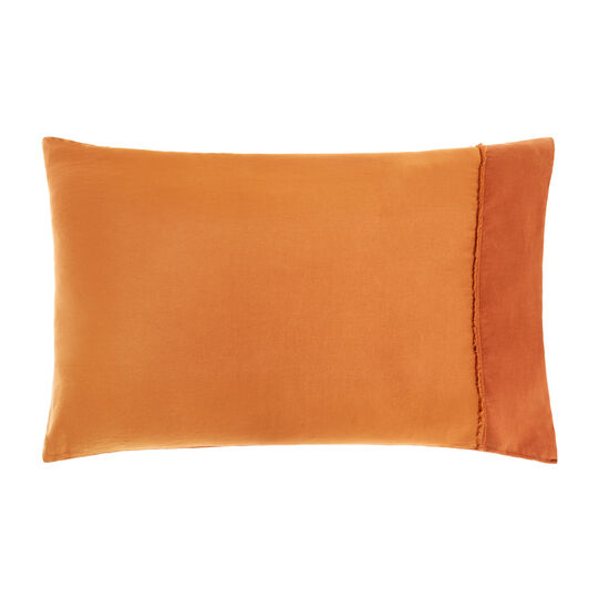 Solid colour pillowcase in cotton satin