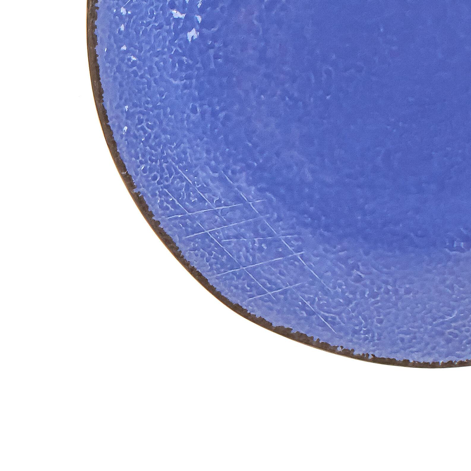 Piatto piano ceramica fatto a mano