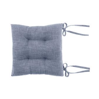 Iridescent cotton mélange seat pad