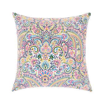 Cotton cushion with mandala print