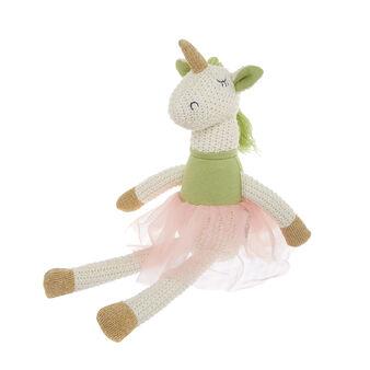 Pupazzo unicorno ballerina in maglia di cotone