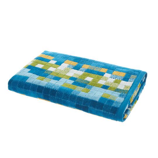 100% cotton velour check towel