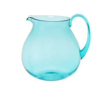 Coloured plastic carafe