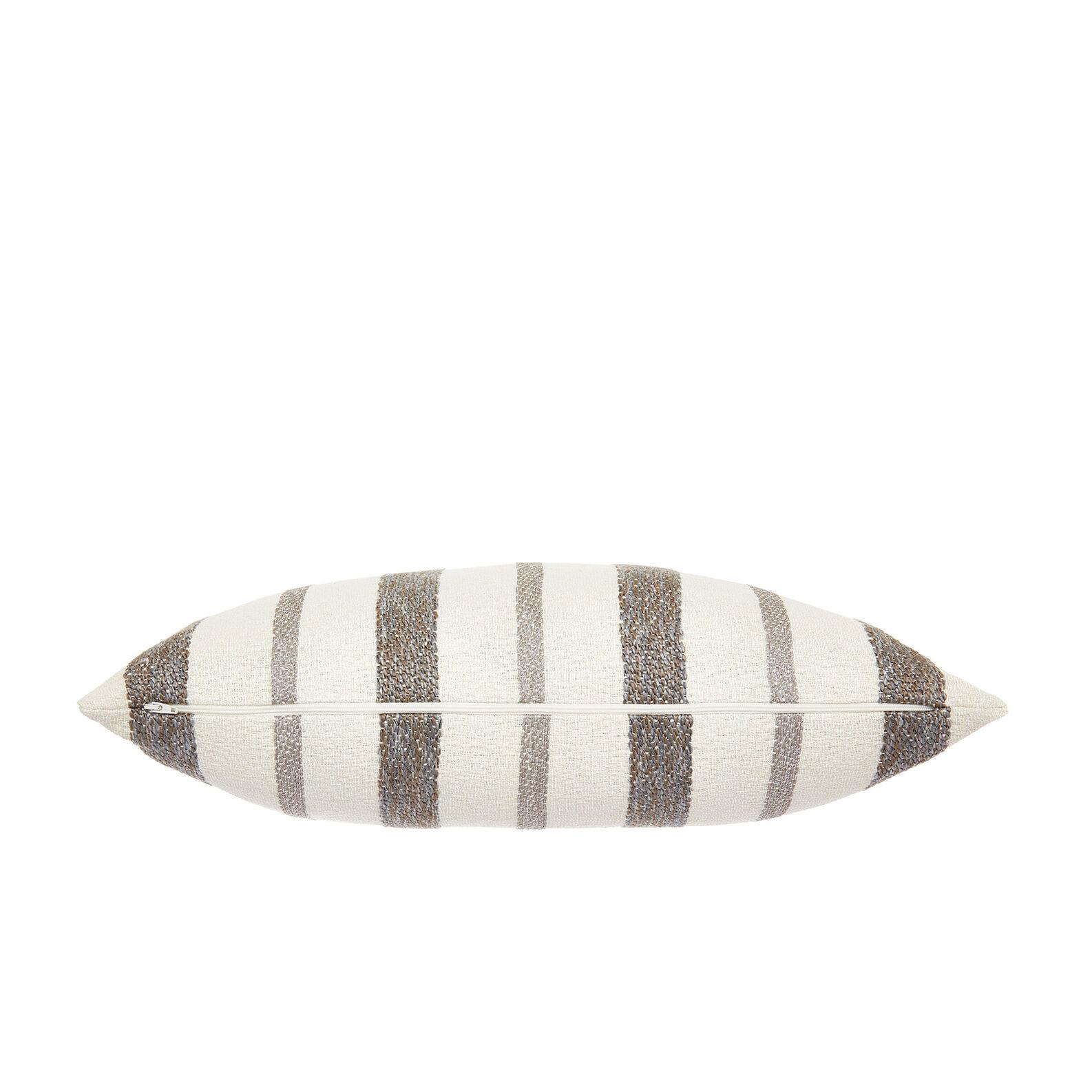 Striped cotton blend cushion 35x55cm