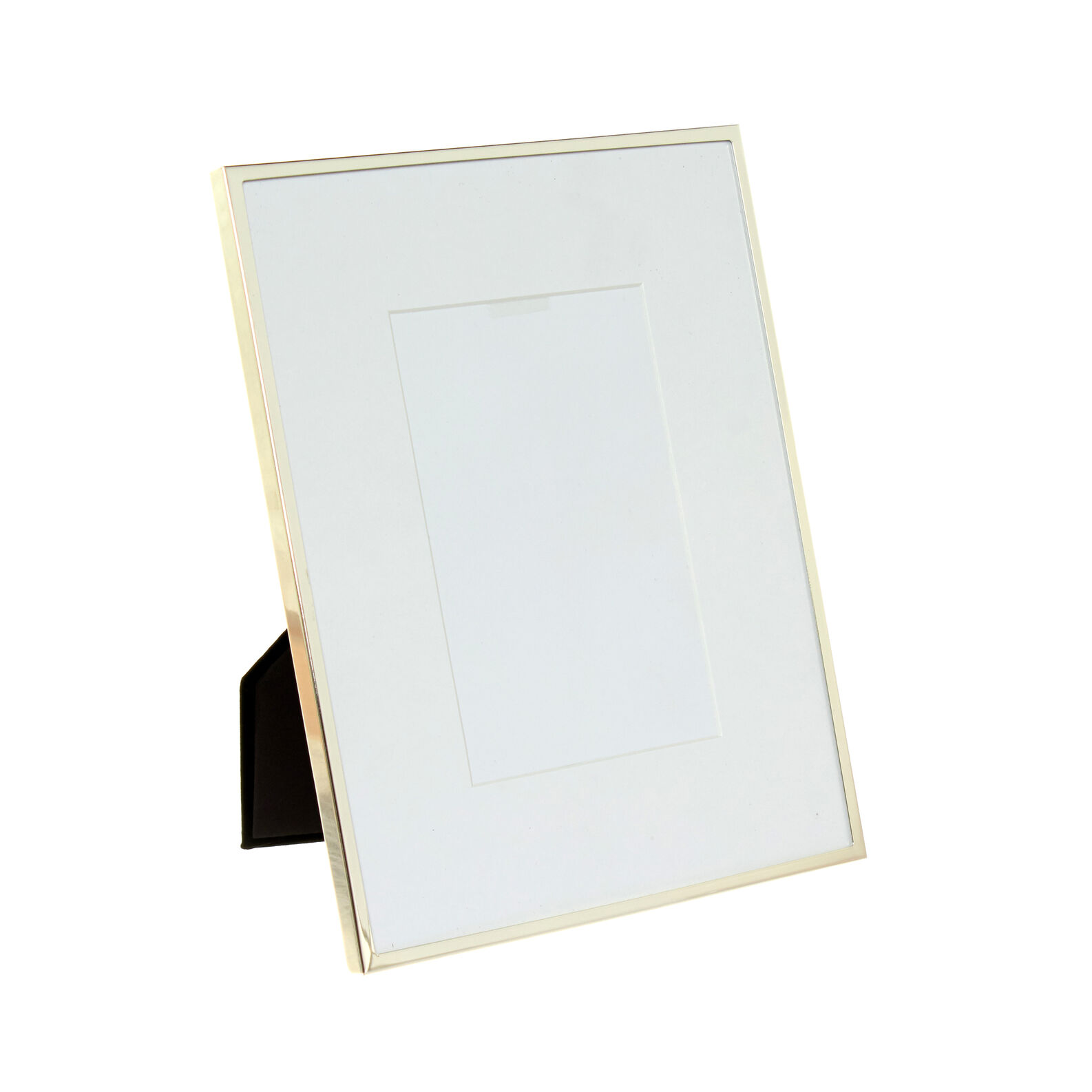 Silver-plated photo frame with passepartout