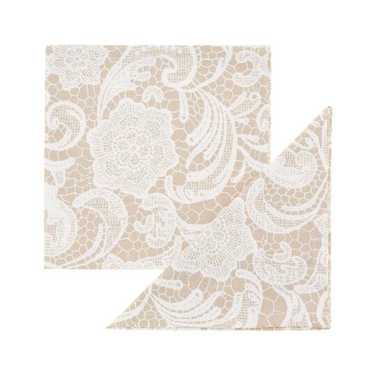 Set due tovaglioli puro cotone stampa Merletto