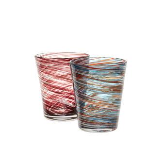 Bicchiere vetro motivo spirale