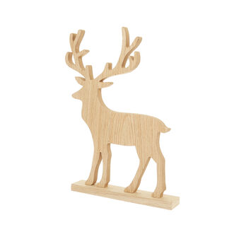 Moose-shaped decoration in wood