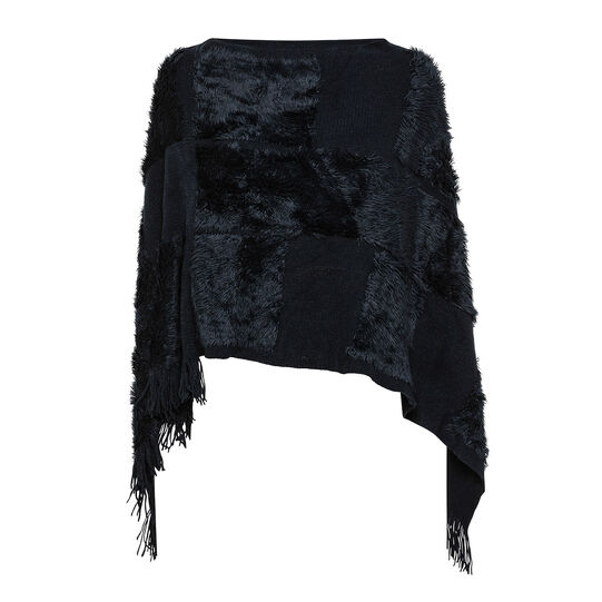 Koan poncho scarf with fringes