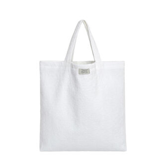 Solid colour cotton shopping bag