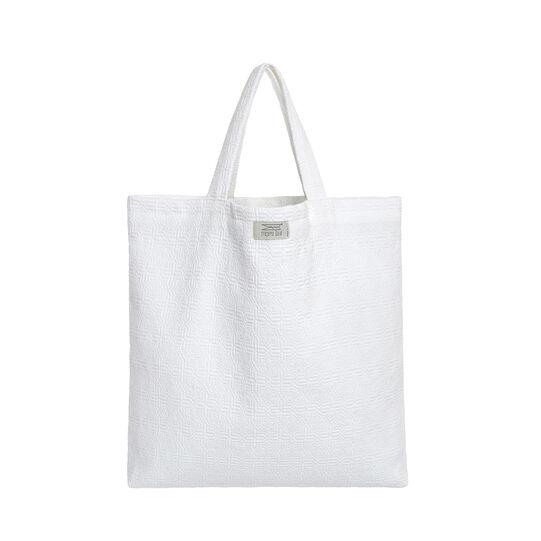 Shopper in cotone tinta unita