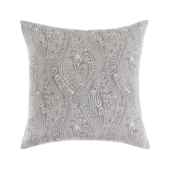 Jacquard cushion with paisley pattern