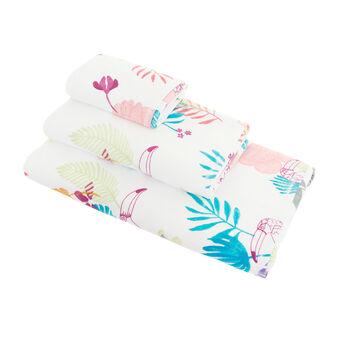 Asciugamano velour puro cotone stampa tucani